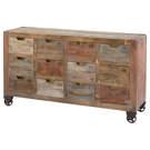 Cabinet de rangement avec 12 tiroirs sur roues