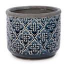 Pot à motif floral