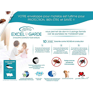 Protège-matelas Excel-Garde lit double