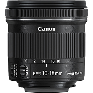 Objectif Grand angle EF-S 10-18mm F4.5-5.6 IS STM