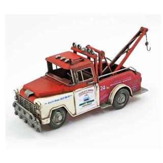 Camion de remorquage en métal rouge