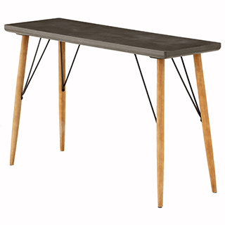 Table console bois gris et naturel