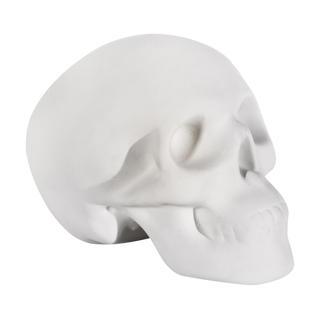 Crâne décoratif en céramique - blanc mat