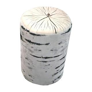 Banc imitation bouleau en tissu