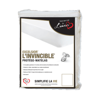 Couvre-matelas lit simple 10 po