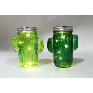 Ensemble de 2 cactus lumineux