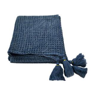 Jeté gaufré bleu 49X60