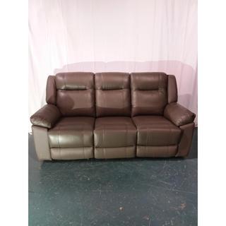 Sofa inclinable en cuir et similicuir - Légères imperfections