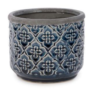 Pot a motif floral