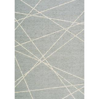 Tapis d'intérieur / extérieur Triangles formes brisées crème bleu Vance