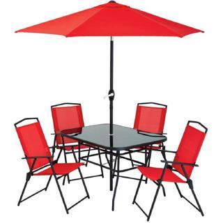 Ensemble patio 6 mcx incluant 1 parasol