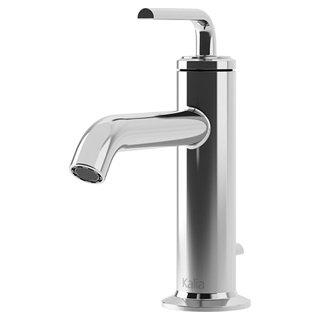 Robinet de lavabo monotrou avec drain mécanique et trop-plein Cité - chrome