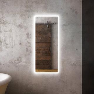 """Miroir pour penderie à éclairage DEL 24"""" x 56"""" Profila avec pourtour de bande givrée en acrylique"""