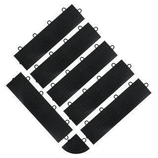 Garnitures femelles pour sol en carrelage noir