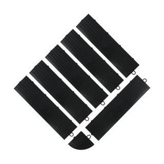 Garnitures mâles pour sol en carrelage noir