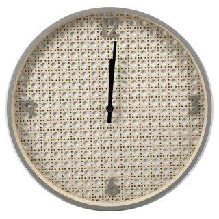 Horloge Rotin
