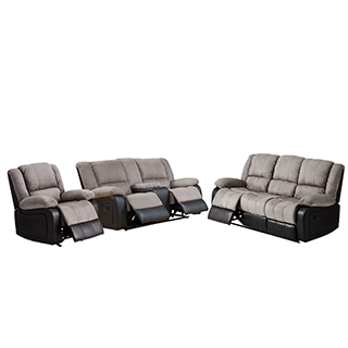 Mobilier de salon inclinable en cuir et similicuir