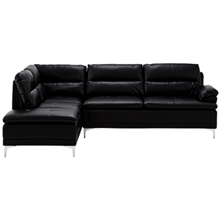 Sofa sectionnel en similicuir