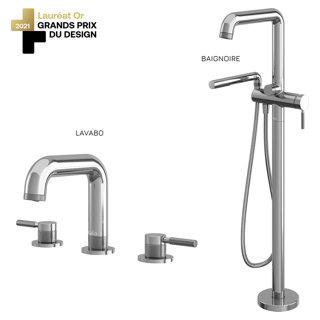Preciso : Ensemble de robinet de lavabo 8 po. centre et de baignoire - Chrome