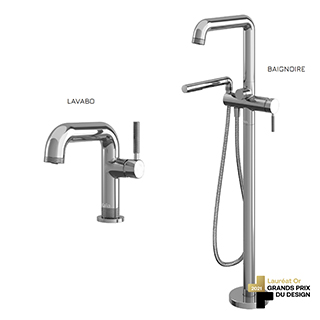 Preciso : Ensemble de robinets de lavabo et de bain autoportant - Chrome