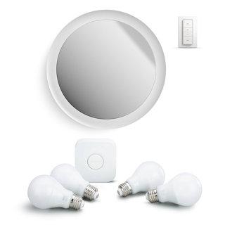 Ensemble miroir et ampoules intelligentes