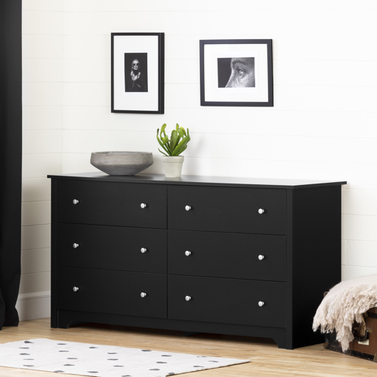 Commode double 6 tiroirs South Shore