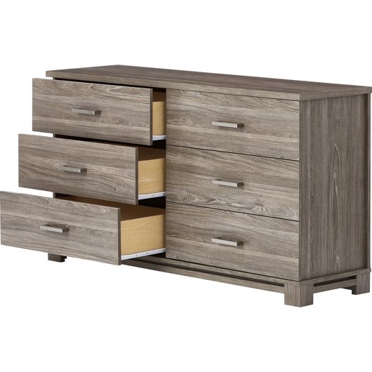 Commode double 6 tiroirs Meq