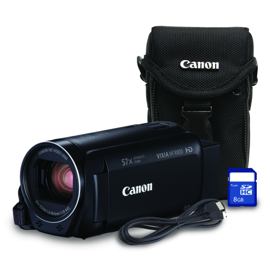 Caméscope 1080HD zoom 32x avec étui carte SDHC de 8 Go Canon