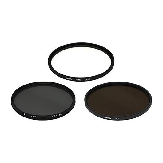Trousse 3 filtres UV/polarisant 58mm Hoya Nadel