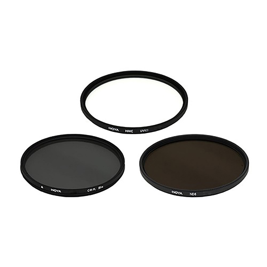 Trousse 3 filtres UV/polarisant 52mm Hoya Nadel