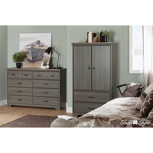Commode double 8 tiroirs South Shore