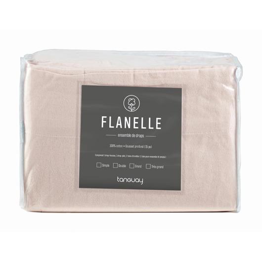 Ensemble de draps Flanelle lit double Gauvin Textiles
