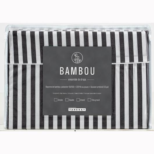 Ensemble de draps Bambou lit simple