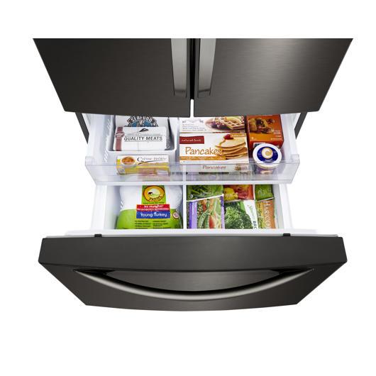 Réfrigérateur à double porte 25.1 pi3 LG