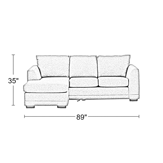 Sofa tissu Meubles Belisle