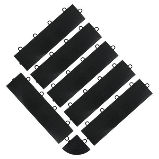 Garnitures femelles pour sol en carrelage noir Gladiator