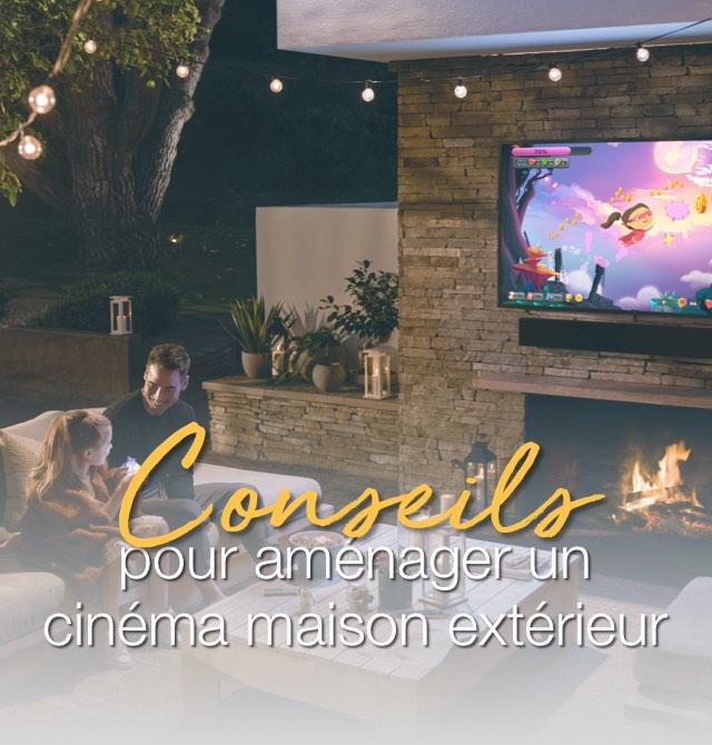 Conseils pour aménager un cinéma maison extérieur